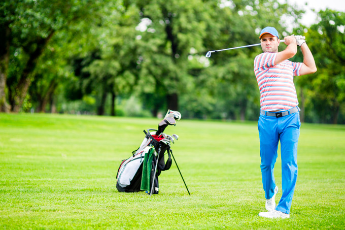 curacao golfspeler op baan