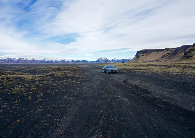 snelle roadtrip ijsland huurauto 4 dagen alleen