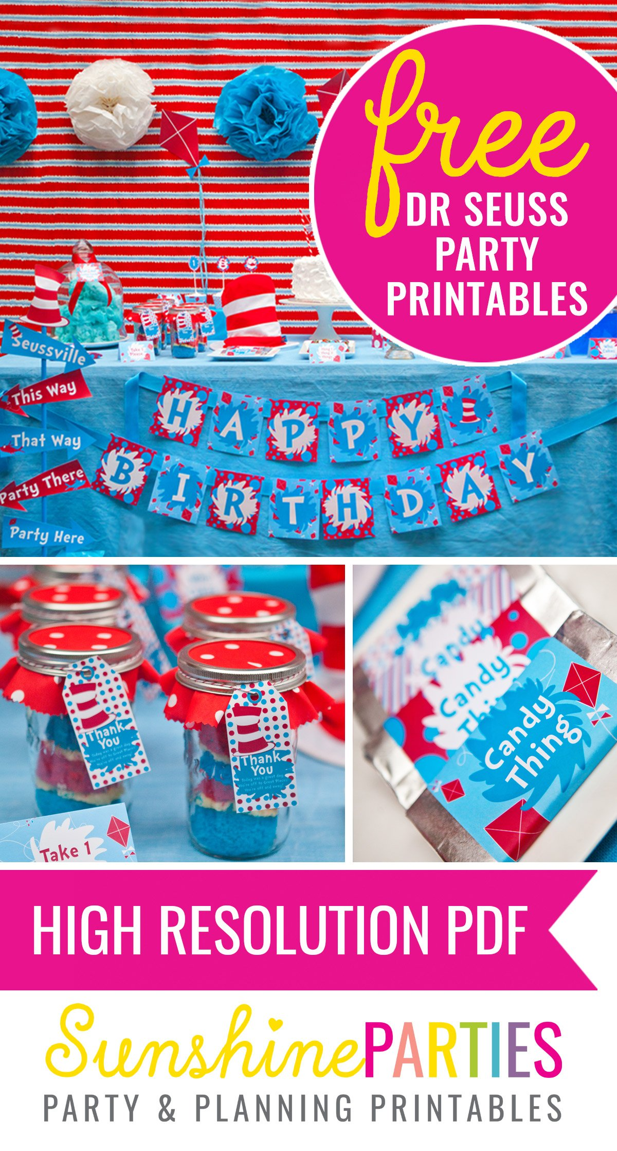 Free Dr Seuss Party Printables