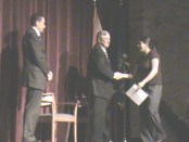 Student accepting award at the 2011 Scholarship Ceremony