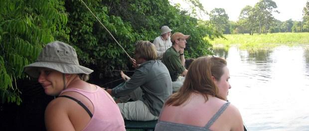 Students on the Amazon