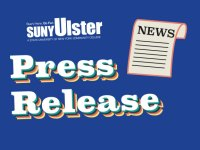 """newspaper icon with words""""SUNY Ulster Press Release"""""""