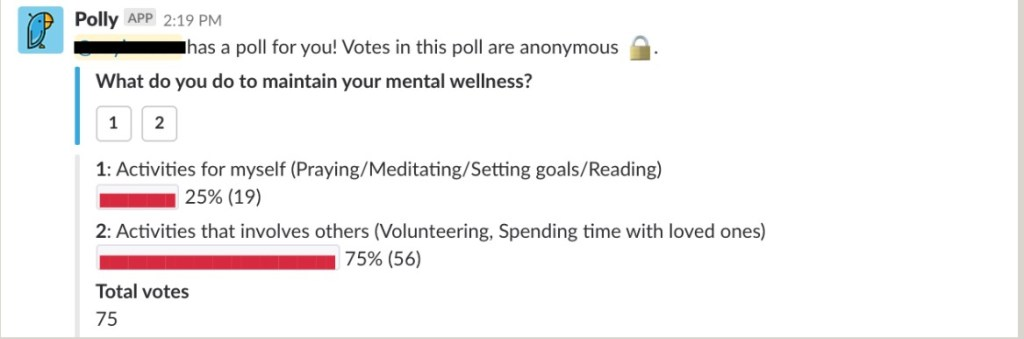 poll results maintain mental wellness