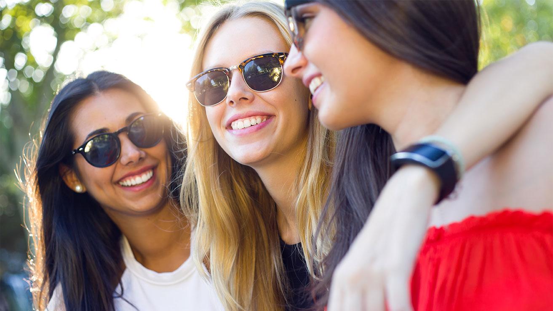 Three girls at cheer camp