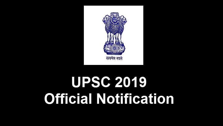 UPSC 2019 Official Notification