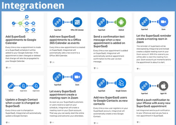 online Buchungstermine in Apps und Software mit Integromat integrieren