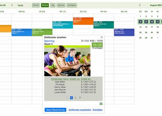 online Terminbuchungskalender mit Bildern und Videos besser aussehen lassen