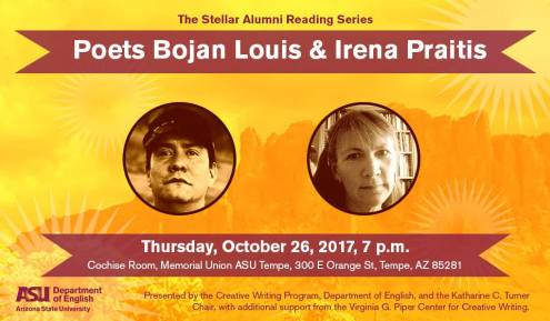 Stellar Alumni Reading Series featuring Bojan Louis and Irena Praitis