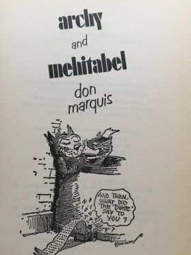 "The cover to ""archy and mehitabel."""