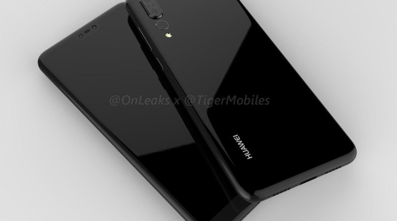 Huawei P20 Plus na renderach