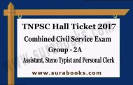 TNPSC HALL TICKET FOR THE WRITTEN EXAMINATION (OBJECTIVE TYPE) TO THE POST OF GROUP-II A SERVICES.