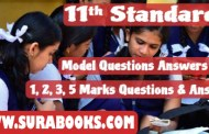 11th Std. Science Group Model Question Papers For 2018 Public Exam