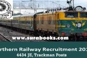 Northern Railway Recruitment 2017 4434 JE, Trackman Posts