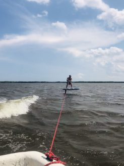 Hydrofoiling in Back Bay