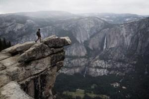 Alec standing tall in Yosemite.