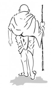 Mahatma Gandhi Sketch: in Illustrator (vector)
