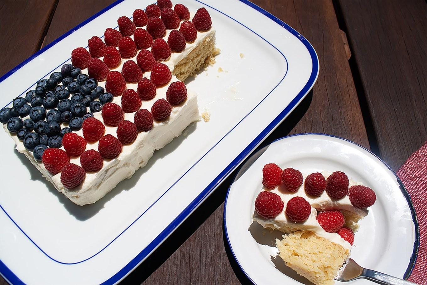 flag cake, 4 July, Independence day