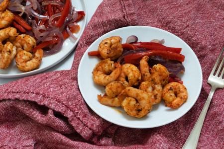 Jerk Shrimp with Roast Vegetables