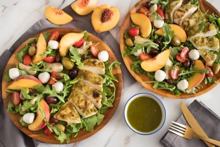 Ligurian Chicken Salad with Peaches