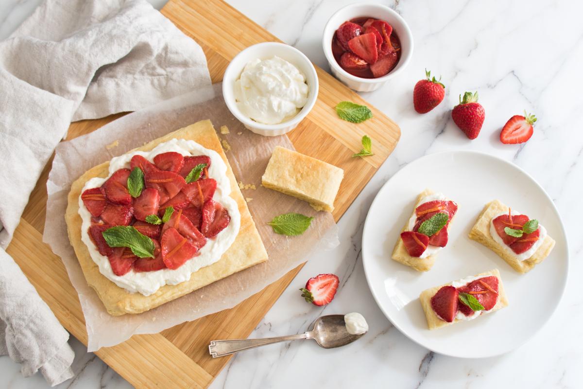 Strawberry and Cardamom Slab Scones