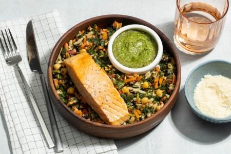 Mediterranean Salmon Grain Bowl