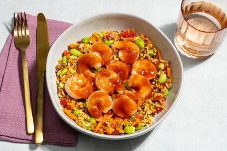 Miso Ginger Shrimp Grain Bowl