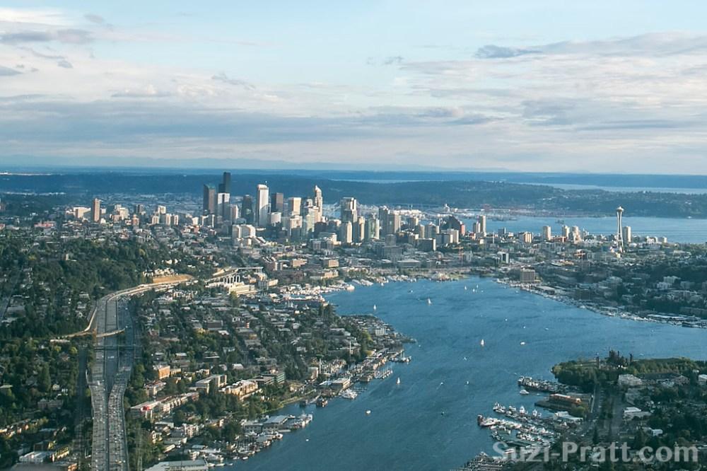 Seattle City Skyline Aerial
