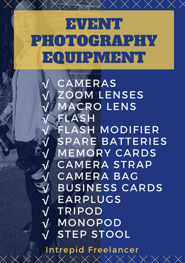 Event Photography Equipment Checklist