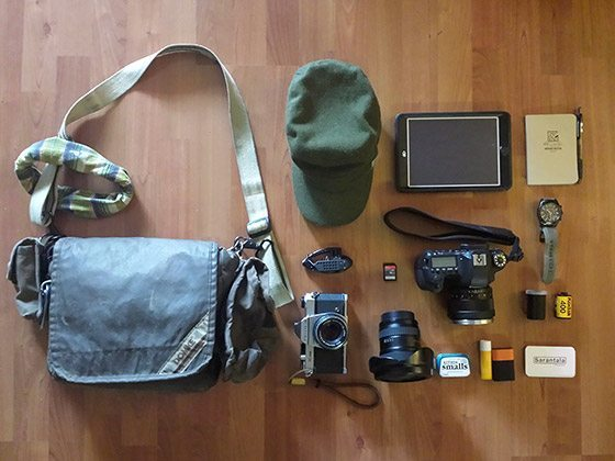 In My Bag Isaac Zapata Minimalist Travel Photography Gear