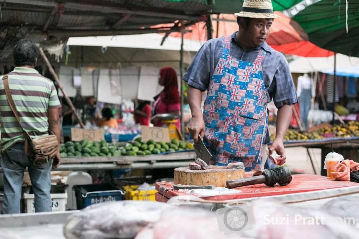Ko Lanta Thailand Photography market butcher