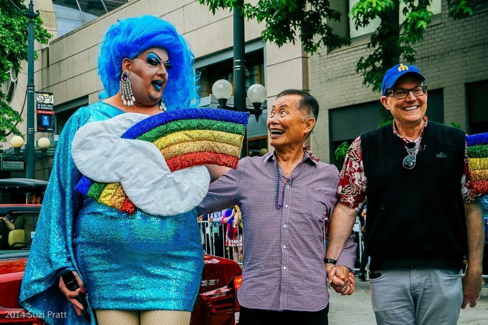 George Takei and Mama Tits Seattle Pride Parade 2014