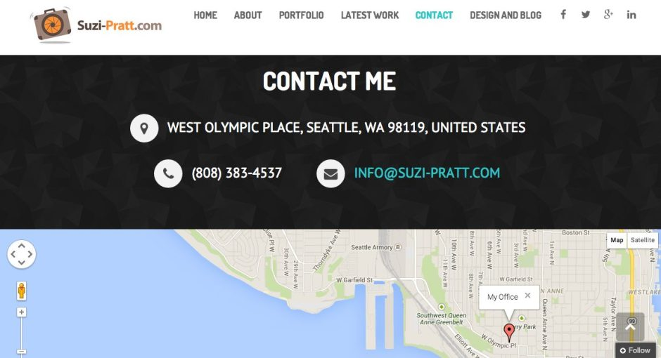 Suzi Pratt Contact Form