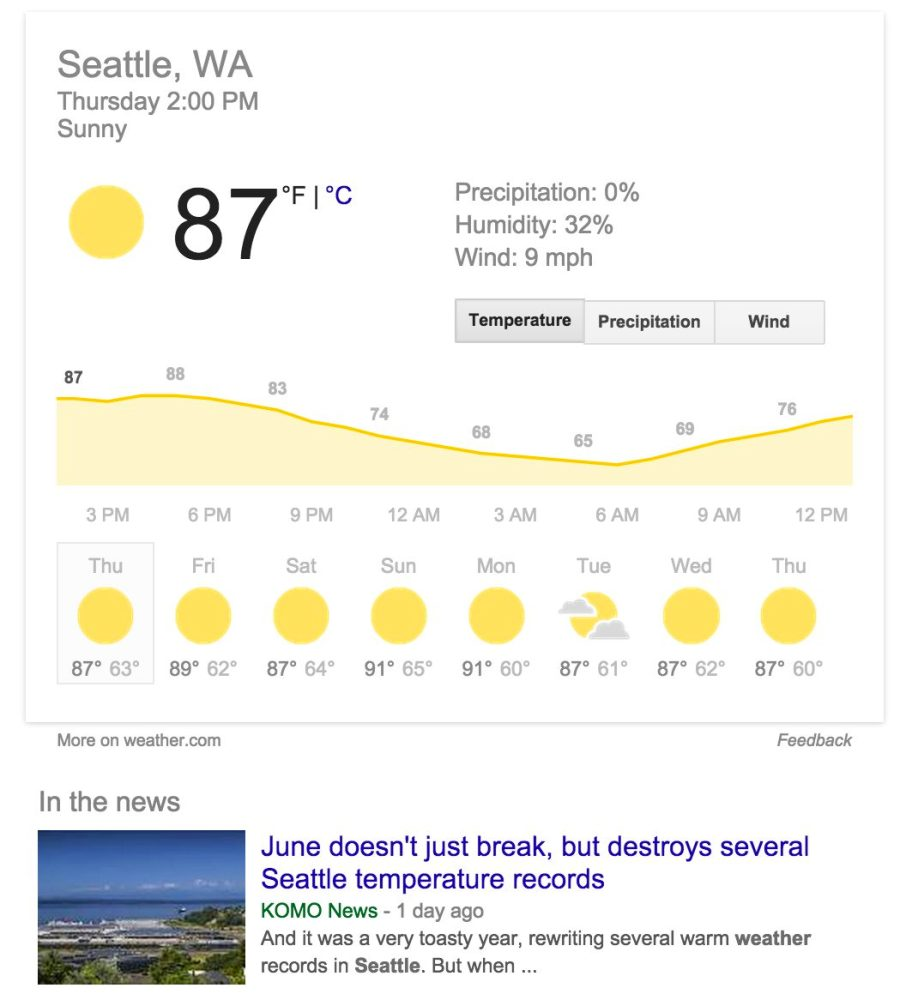 Seattle summer heat wave
