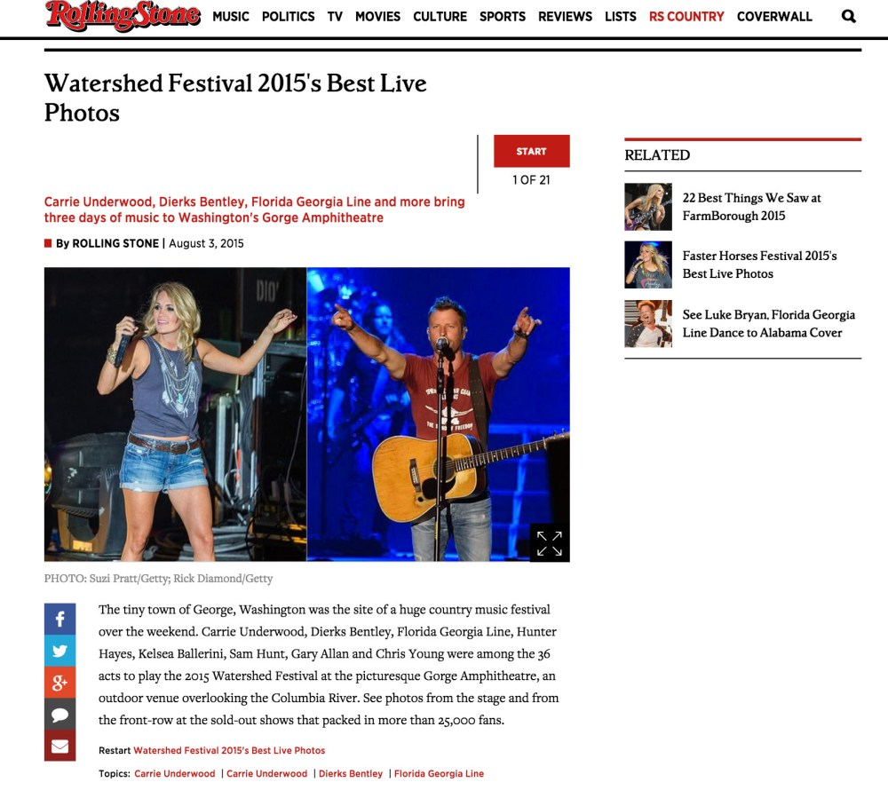 Rolling Stone Carrie Underwood