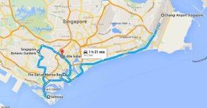 Travel Singapore Map