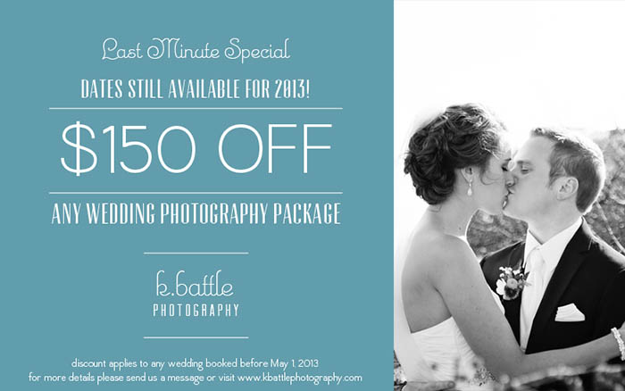 Photography discount coupon