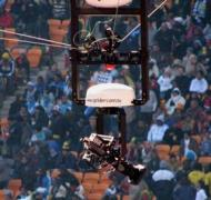 The Spidercam in action