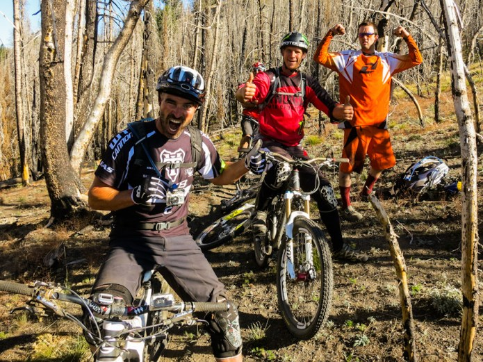Mountain Biking Pros in Idaho staying at Coyote Yurt