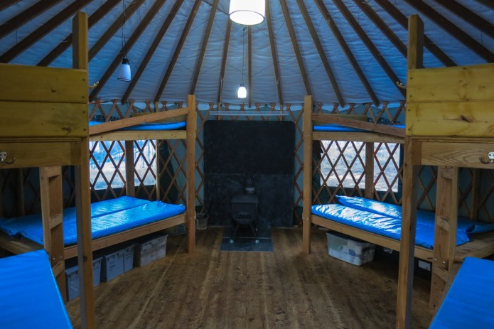 The new sleeping yurt sleeps as many as 16!