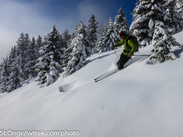 Ed laying into the powder