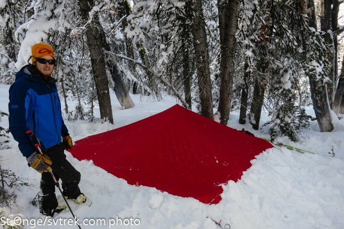 JP using the brooks range tarp in another configuration