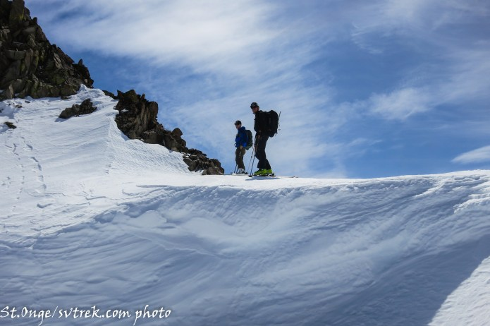 searching for the powder