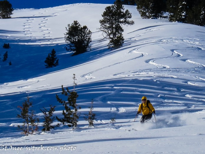 skiing the lower slopes