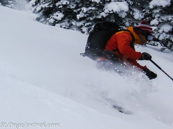 Joe, enjoying some early season powder