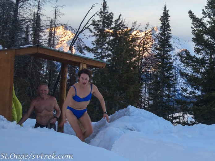 From hot to cold: the sauna dash