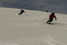 Chalky powder provided fun and fast carving conditions