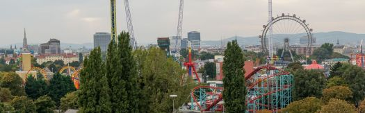 View of the Prater park in Vienna