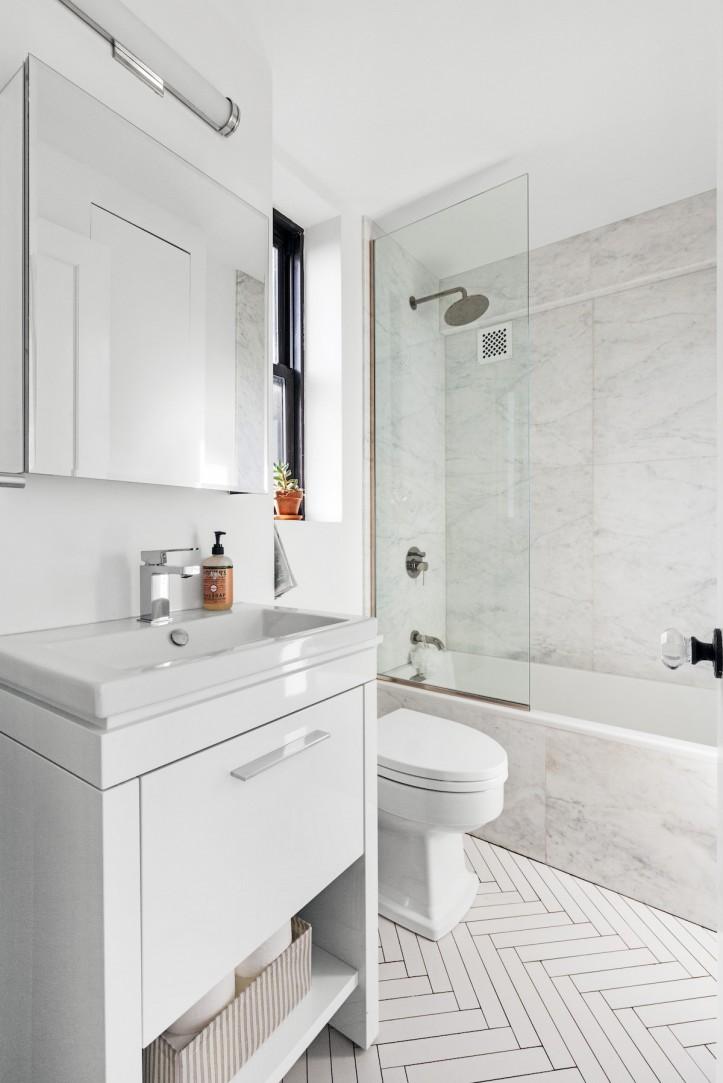 Bathroom Open Shelving