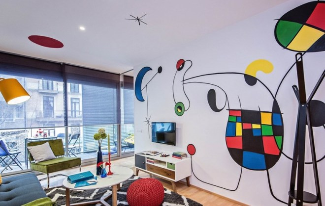 The 'Miró' apartment in the Eixample district of Barcelona, inspired by the painter Joan Miró.
