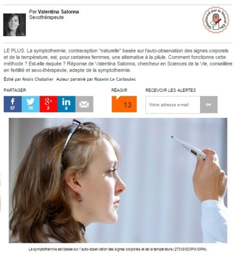 symptothermie méthode de contraception naturelle
